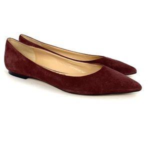 Sam Edelman Suede Burgundy Rae Flats Pointed Toe